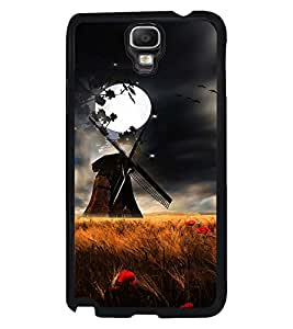 Fuson Premium Full Moon Metal Printed with Hard Plastic Back Case Cover for Samsung Galaxy Note 3 Neo N7505