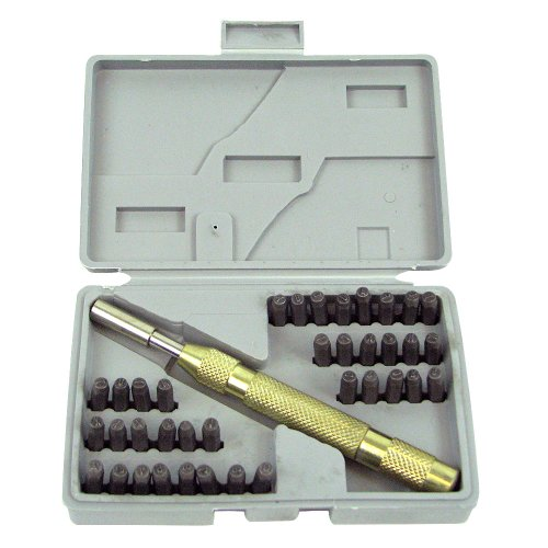 Stalwart 75-9090 Hawk Deluxe Number and Letter Metal Stamping Set, 38-Piece