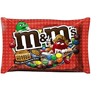 M&M'S Peanut Butter Chocolate Candy 18.4-Ounce Bag (Pack of 4)