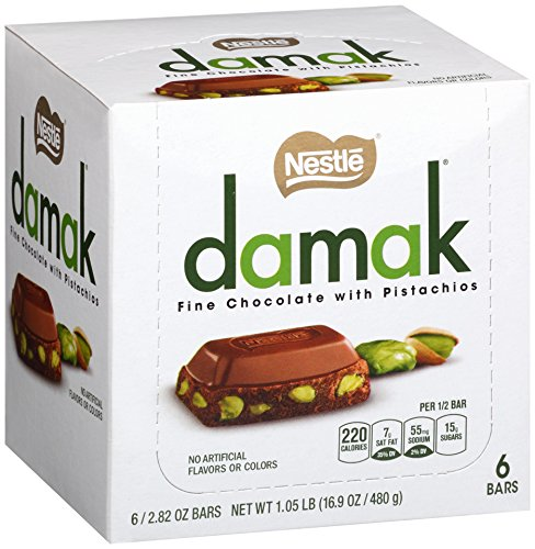 Nestle Damak Fine Chocolate with Pistachios, 2.82 Ounce (6 Bars) (Pistachio Chocolate compare prices)