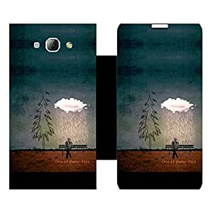 Phone Candy Designer Flip Cover with hi-res printed Vinyl sticker wrap-around for Samsung Galaxy A8