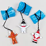 クリスマス キャラクター パラシュート(4個入り) 子どもたちへのクリスマスのちょっとしたプレゼントに