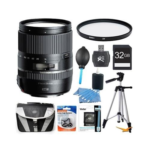 Tamron 16-300Mm F/3.5-6.3 Di Ii Vc Pzd Macro Lens For Nikon Cameras Includes: 16-300Mm Lens For Nikon Cameras, 32Gb Sd Memory Card, 67Mm Uv Protective Filter, Carry Case, 57-Inch Full Size Tripod & More