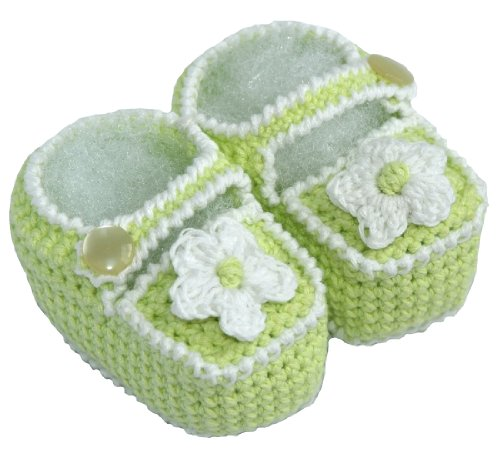 Crochet Baby Sandals, Size: 0-3 M, Color: Green