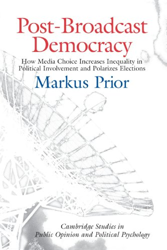 Post-Broadcast Democracy Paperback: How Media Choice Increases Inequality in Political Involvement and Polarizes Elections (Cambridge Studies in Public Opinion and Political Psychology)