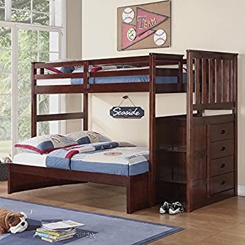 Boraam 99121 Bunk Bed, Twin and Full, Cappuccino