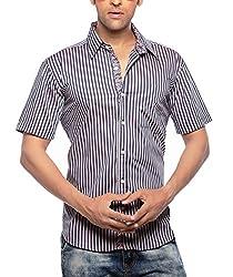 Moksh Men's Striped Casual Shirt V2IMS0414-29 (Medium)