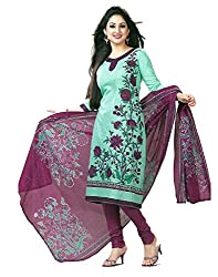 FastColors Women Salwar Suit Dupatta Cotton Dress Material(sgh 843_FO_Blue)