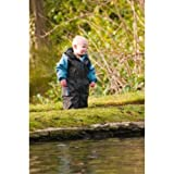 :HippyChick, Waterproofs - Blue/Black Fleece-lined All-in-One Suit 18-24 months