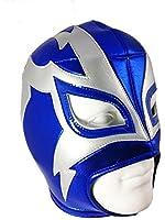 SHOCKER Adult Lucha Libre Wrestling Mask (pro-fit) Costume Wear - Blue/Grey