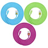 3-Pack Of Superior Quality - Heavy Duty, 8-pin To USB, 3 Meter (10Ft) Lightning Charging Cables For Apple IPhone...