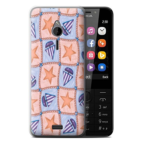 stuff4-phone-case-cover-for-nokia-230-peach-purple-design-boat-stars-pattern-collection