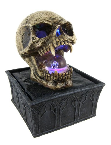 Small Gothic Vampire Skull Tabletop Fountain Evil