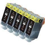 N.T.T.® 5x Tintenpatronen XL mit Chip kompatibel zu Canon PGI-520BK Schwarz / Black, Sparpack
