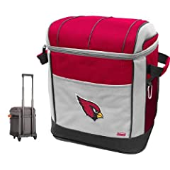 NFL Arizona Cardinals 50 Can Soft Sided Rolling Coleman Cooler by Licensed Products