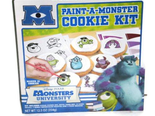 Monsters University Paint a Monster Cookie Kit Disney Pixar Kit Makes 12 Cookies