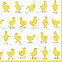 Lunch Napkins Dessert or Luncheon Baby Shower Birthday Party Girl or Boy Ducks Pk 40