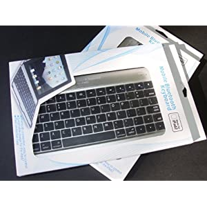 MiniSuit Apple iPad 2 Aluminum Bluetooth Keyboard Case Cover Stand 16 GB, 32 GB, 64 GB (Silver Exterior and Black Keys)