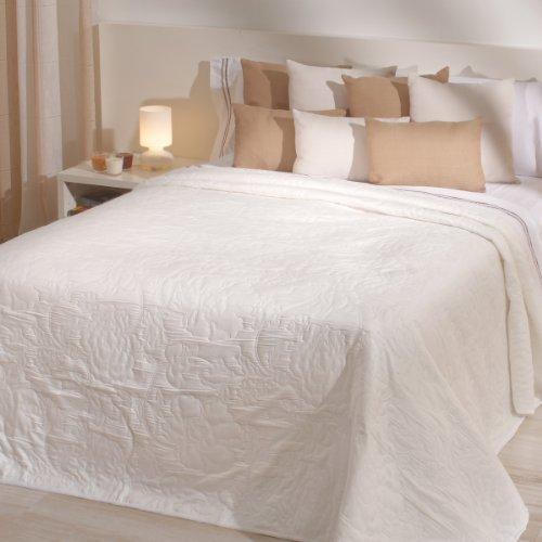 Sancarlos - Colcha reversible hamilton crema - doble tela reversible - bordado jacquard - esquinas redondeadas - varias tallas disponibles