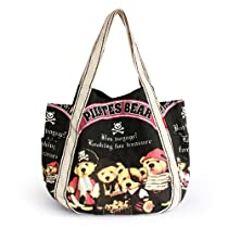 [Pirates Bear] Canvas Shoulder Tote Bag