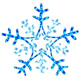 The Christmas Workshop 9 m LED Snowflake Rope Light, Blue/ White