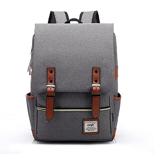 Ceyue Retro British Style Korean Version School Laptop Backpack CB-001 Grey (British Retro Bag compare prices)