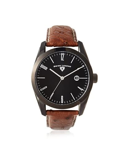Swiss Legend Men's 22044-BB-01-DA02C Peninsula Dark Brown/Black Ostrich Watch