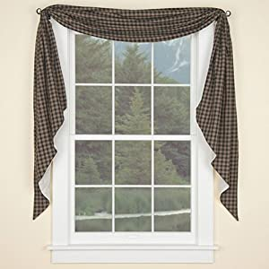 Amazon.com: Sturbridge Fishtail Window Swag Curtain Black
