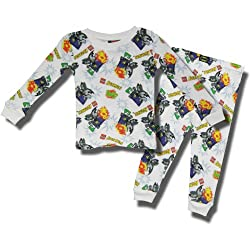"Batman ""Lego Batman"" 2 piece Cotton thermal pajamas for toddlers"