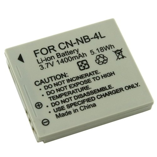 Canon NB-4L NB4l High Capacity Li-Ion Battery For Powershot SD200 SD300 SD400 SD450 Digital IXUS 30 40 50 IXUS 60 65