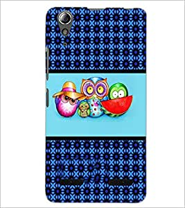 PrintDhaba Pattern D-4770 Back Case Cover for LENOVO A6000 (Multi-Coloured)