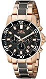 "Invicta Men's 17255SYB ""Pro Diver"" 18k Rose Gold Ion-Plated Casual Watch"