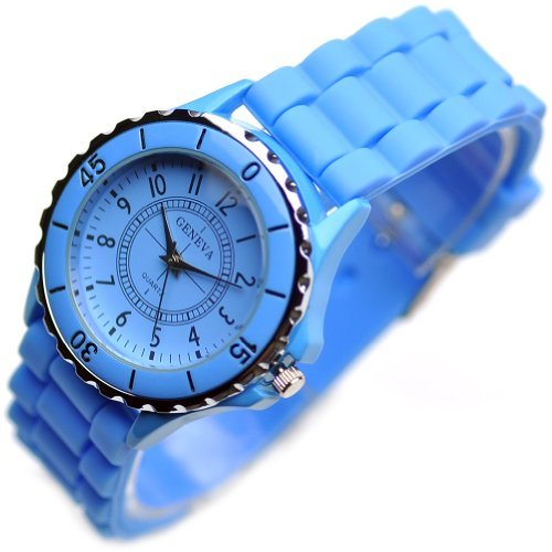Classic Silicone Women Watch Gifts Stylish Blue Fashion Lady Brand Watch for Girl L186-y image
