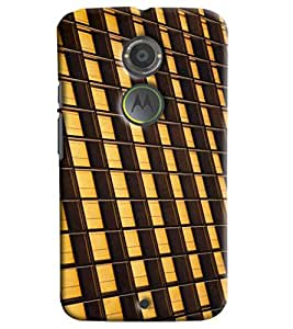 Blue Throat Stipes Hard Plastic Printed Back Cover/Case For Moto X2
