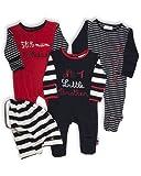The Essential One - Baby Jungen Schlafanzuge/Schlafanzug/Einteiler/ Strampler (3-er Pack mit Beutel) - ESS113 - 74/80cm