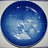 Bing & Grondahl Annual Hand Decorated Christmas Plate 1977