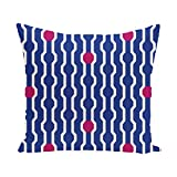 E By Design PHGN277B1PK7-16 Nuts & Bolts Decorative Holiday Geometric Print Pillow, 16