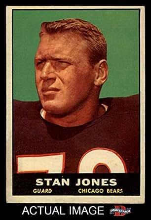 Amazon.com: 1961 Topps # 14 Stan Jones Chicago Bears ...