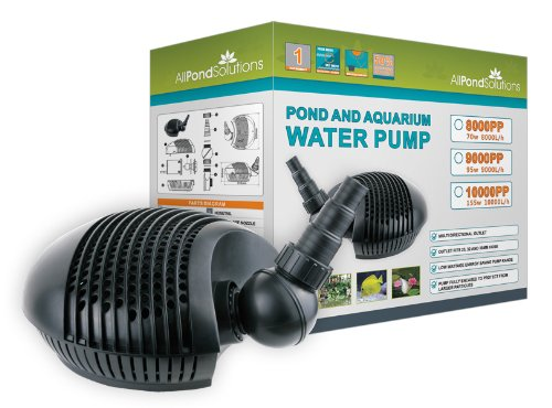 Submersible Garden Water Pond Pump Filter 8000L/H All Pond Solutions 8000PP