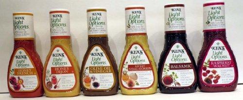 Ken'S Light Options Variety Dressings, Olive Oil & Vinegar, Balsamic, Honey Dijon, Honey French, Sweet Vidalila Onion And Raspberry Walnut
