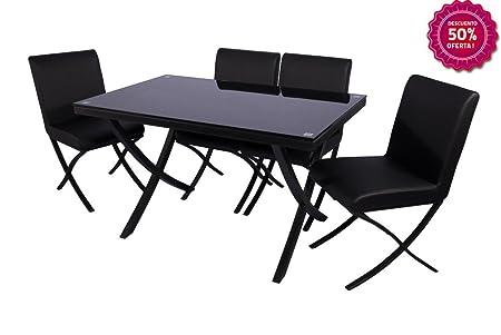 Conjunto mesa y 4 sillas de comedor