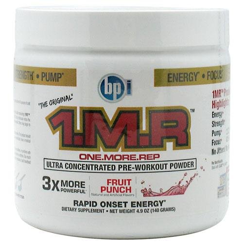 BPI 1.M.R Original Pre-Workout Formula, Fruit Punch, 4.9-Ounce