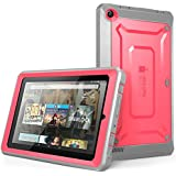 Fire 7 Case, SUPCASE [Heavy Duty] Case for 2015 Release Amazon Fire 7 Tablet [Unicorn Beetle PRO Series] Rugged Hybrid Protective Cover w Builtin Screen Protector Bumper (Pink/Gray)