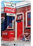 FOUNTAIN Coca-Cola LUNCH, Metal Tin Sign, Tin Poster, Art Vintage Style Wall Ornament Coffee Decor, 20 X 30 Cm.