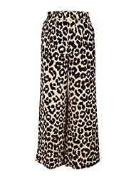 Chicabelle Girls' Palazzo Pants (CH-31A_Black Brown_10-12 Years)