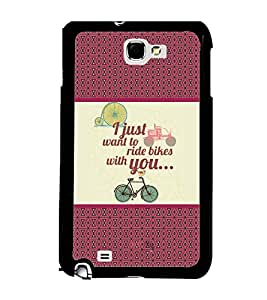 Fuson 2D Printed Quotes Designer back case cover for Samsung Galaxy Note 2 - D4380
