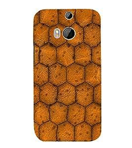 EPICCASE honeycomb Mobile Back Case Cover For HTC One M8 (Designer Case)