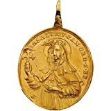 14K Yellow Gold St. Gertrude Medal - 31.00x26.50mm