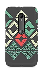 Amez designer printed 3d premium high quality back case cover for Moto G Turbo Edition (Pattern 14)