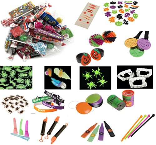 [NEW! Halloween Toy And Candy Assortment 80+ Pieces Giveaways, Goodie Bags, Party Favors, Rewards, Birthday (Exclusive To Kela] (Best Nerd Girl Halloween Costume)